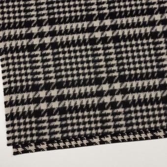 ウール×チェック(グレイッシュベージュ&ブラック)×千鳥格子 サムネイル2