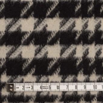 ウール×チェック(グレイッシュベージュ&ブラック)×千鳥格子 サムネイル4