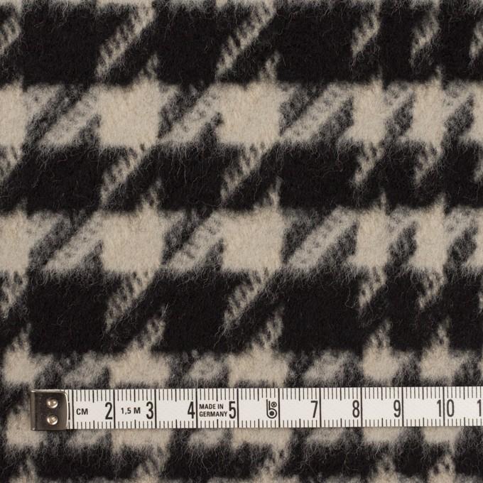 ウール×チェック(グレイッシュベージュ&ブラック)×千鳥格子 イメージ4