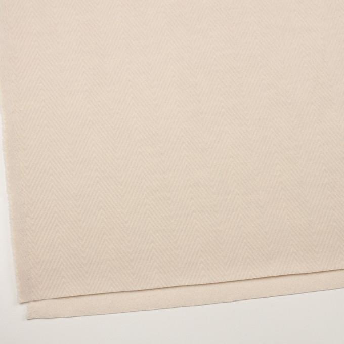 ウール&ポリエステル×無地(エクリュ)×かわり編み イメージ2