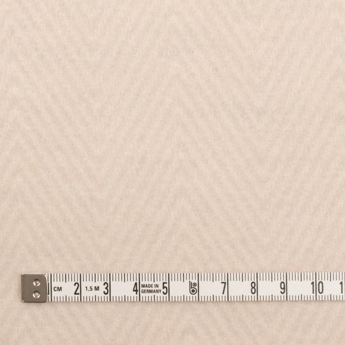 ウール&ポリエステル×無地(エクリュ)×かわり編み イメージ4