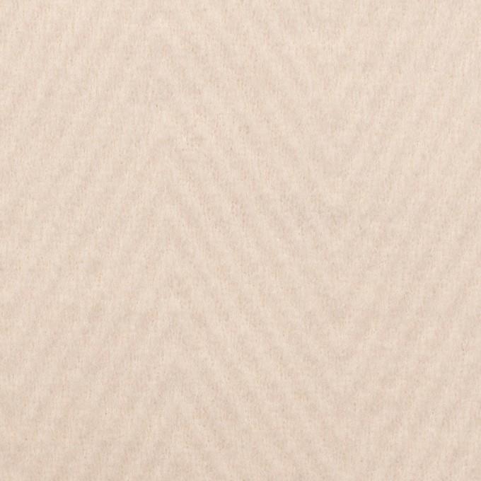 ウール&ポリエステル×無地(エクリュ)×かわり編み イメージ1
