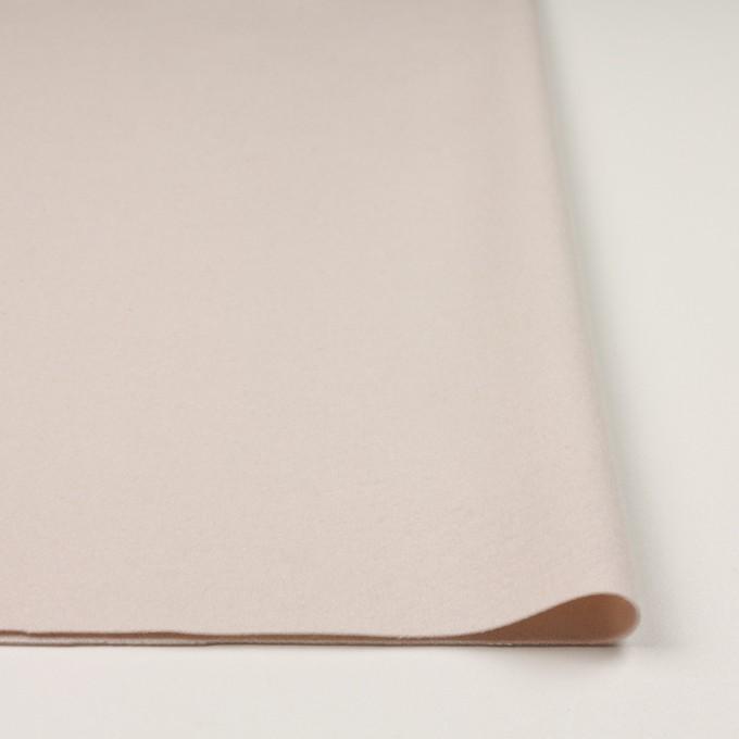 ウール&ナイロン×無地(アンバーホワイト)×フラノ(フランネル) イメージ3