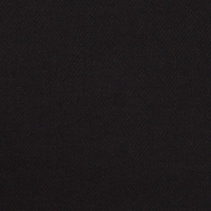 コットン&ウール×無地(ブラック)×ビエラ_全8色 イメージ1