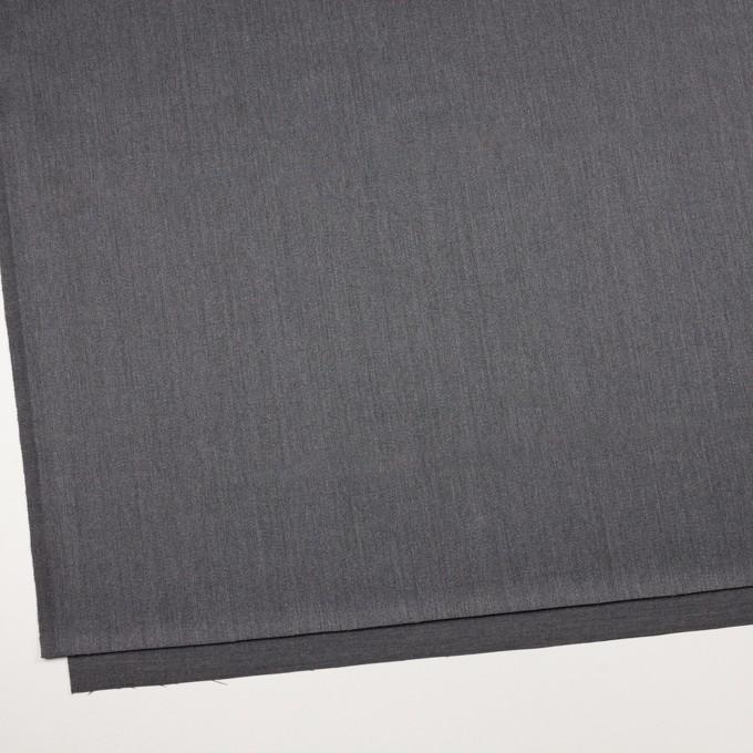 ウール&ポリウレタン×無地(チャコールグレー)×ベネシャン・ストレッチ イメージ2