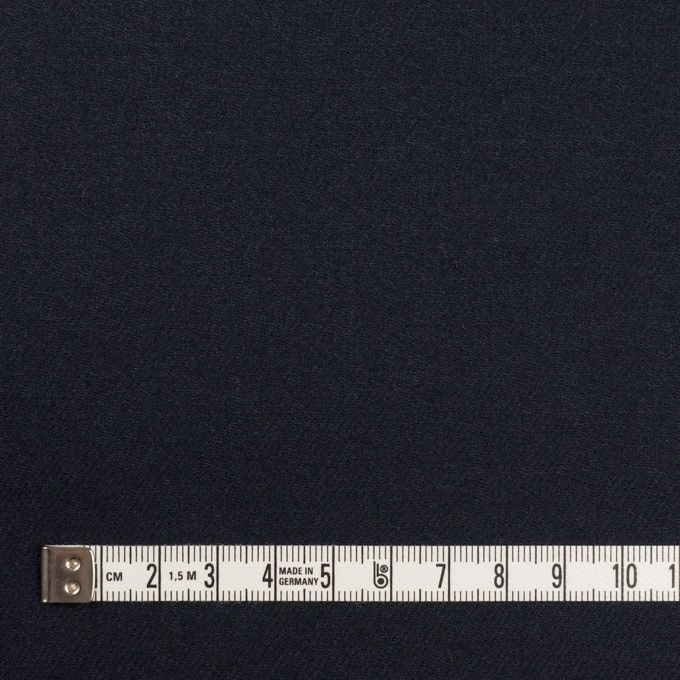 ウール×無地(ダークネイビー)×サージ イメージ4