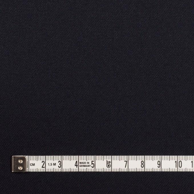 ウール&ポリウレタン×無地(ダークネイビー)×サージストレッチ イメージ4
