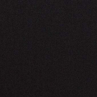 ウール&ポリウレタン×無地(ブラック)×サージストレッチ サムネイル1