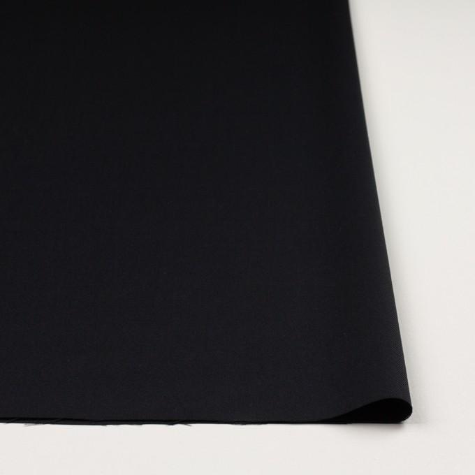 ウール&ポリウレタン×無地(チャコールブラック)×サージ イメージ3