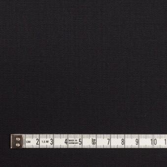 ウール&ポリウレタン×無地(チャコールブラック)×サージ サムネイル4
