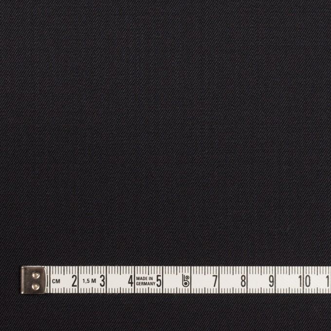 ウール&ポリウレタン×無地(チャコールブラック)×サージ イメージ4