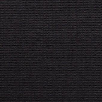 ウール&ポリウレタン×無地(チャコールブラック)×サージ サムネイル1
