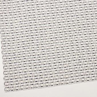 コットン&ナイロン×チェック(オフホワイト、シルバー&ネイビー)×ファンシーツイード サムネイル2