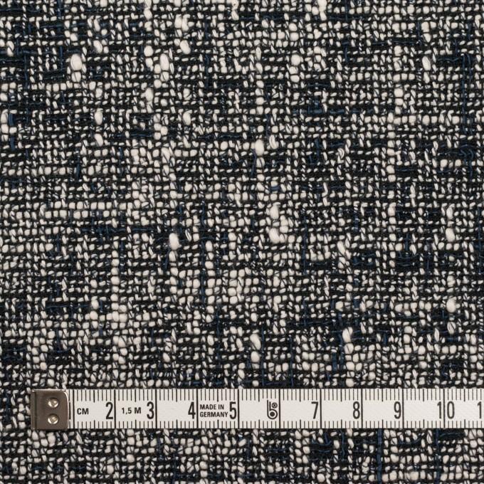 ウール&コットン混×ミックス(アイボリー&ネイビー)×ファンシーツイード イメージ4