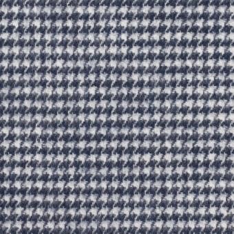 コットン×チェック(ネイビー)×千鳥格子 サムネイル1