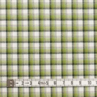 コットン×チェック(グリーン&グレー)×ビエラ サムネイル4