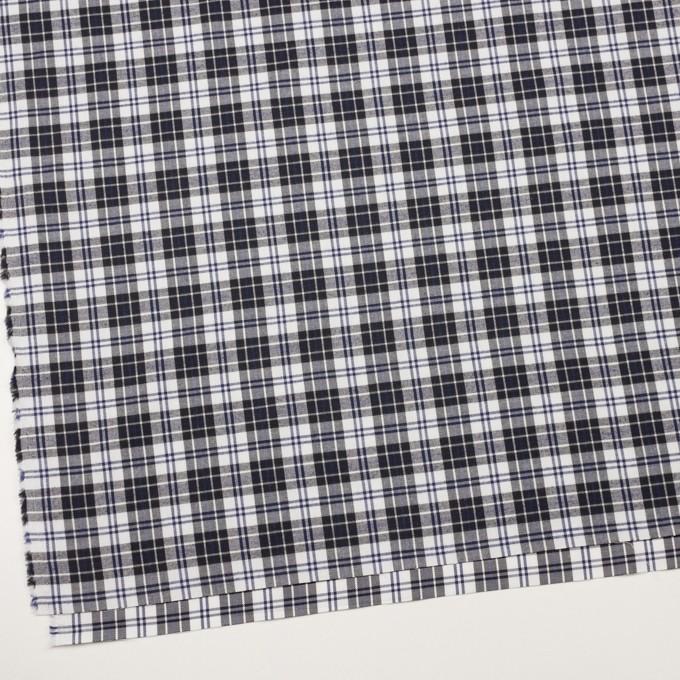 コットン×チェック(ネイビー&ブラック)×ビエラ イメージ2