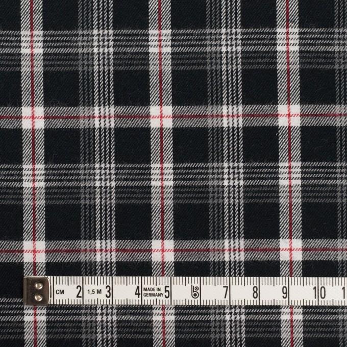 コットン×チェック(ブラック、レッド&グレー)×ビエラ イメージ4
