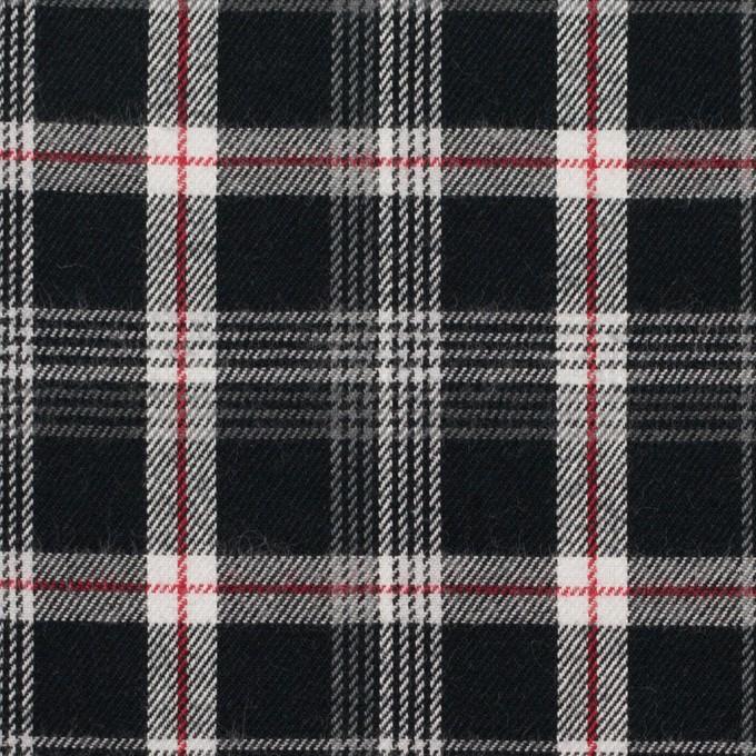 コットン×チェック(ブラック、レッド&グレー)×ビエラ イメージ1