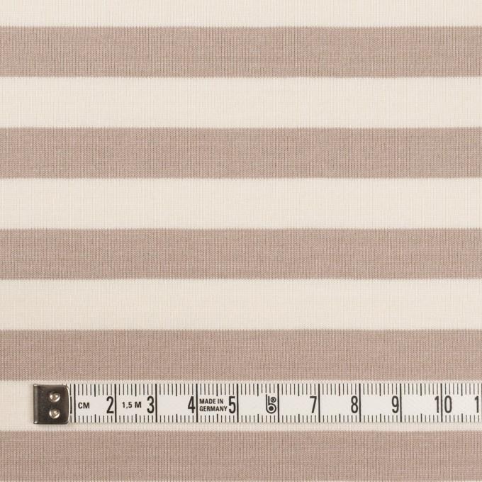 コットン×ボーダー(オークルベージュ)×天竺ニット_全5色 イメージ4