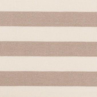 コットン×ボーダー(オークルベージュ)×天竺ニット_全5色