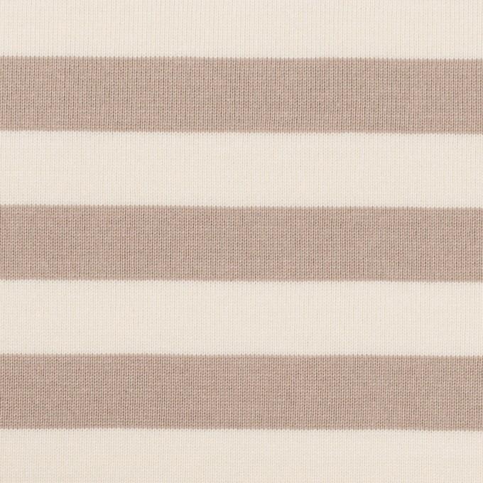 コットン×ボーダー(オークルベージュ)×天竺ニット_全5色 イメージ1