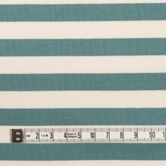 コットン×ボーダー(アンティークグリーン)×天竺ニット_全5色 サムネイル4