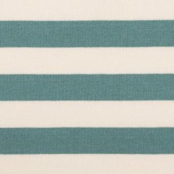 コットン×ボーダー(アンティークグリーン)×天竺ニット_全5色