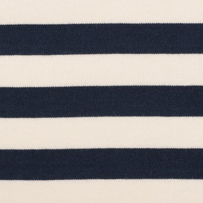 コットン×ボーダー(ネイビー)×天竺ニット_全5色 イメージ1