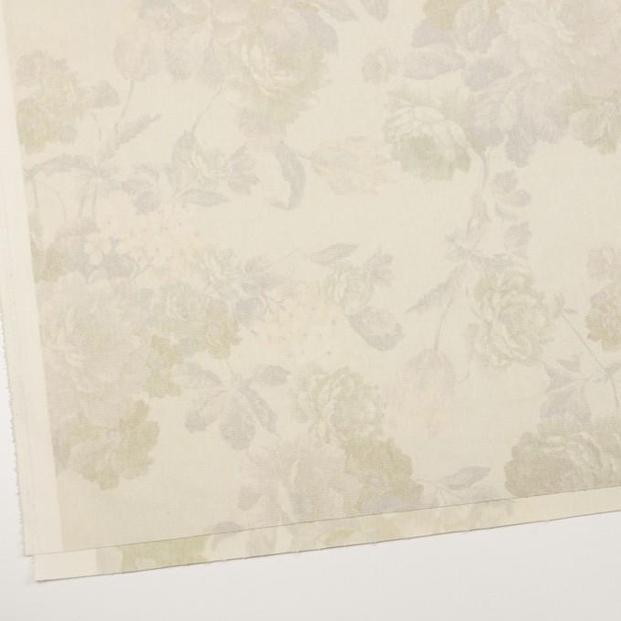 コットン&ポリエステル混×フラワー(カスタード)×チノクロス・ストレッチ イメージ2