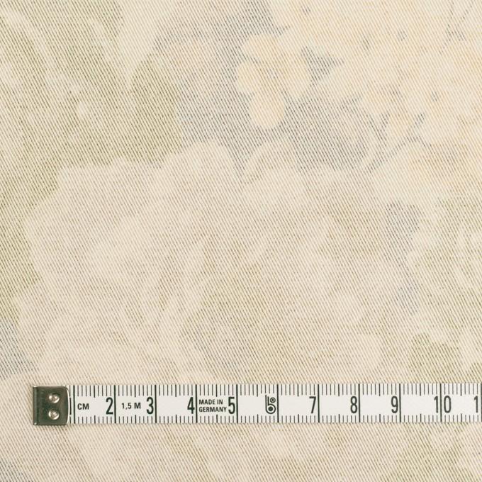 コットン&ポリエステル混×フラワー(カスタード)×チノクロス・ストレッチ イメージ4