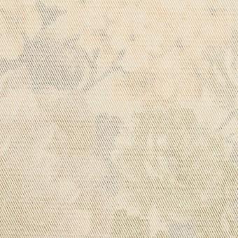 コットン&ポリエステル混×フラワー(カスタード)×チノクロス・ストレッチ