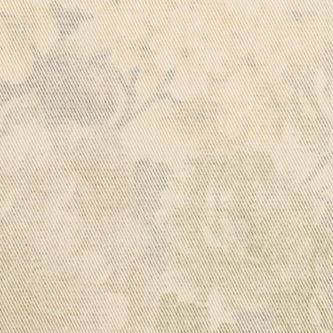 コットン&ポリエステル混×フラワー(カスタード)×チノクロス・ストレッチ イメージ1