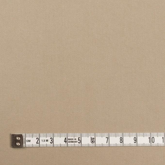 コットン&ポリウレタン×無地(カーキベージュ)×サテンストレッチ イメージ4