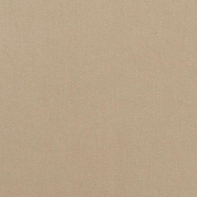 コットン&ポリウレタン×無地(カーキベージュ)×サテンストレッチ イメージ1