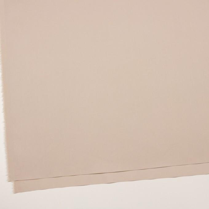 コットン&ポリエステル混×無地(ウォームベージュ)×二重織ストレッチ イメージ2