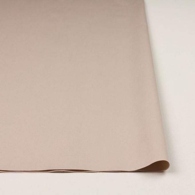 コットン&ポリエステル混×無地(ウォームベージュ)×二重織ストレッチ イメージ3