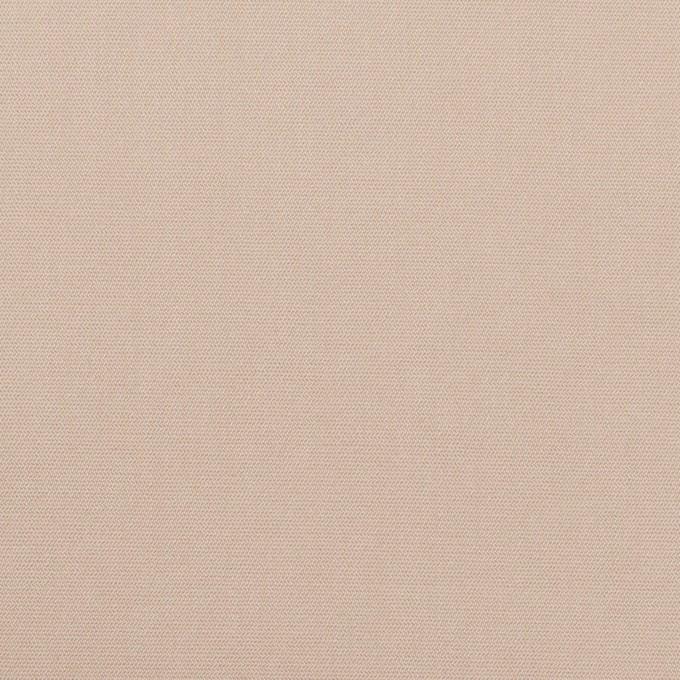 コットン&ポリエステル混×無地(ウォームベージュ)×二重織ストレッチ イメージ1