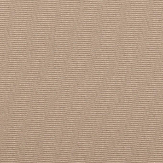 コットン&ポリウレタン×無地(スモーキーベージュ)×サージストレッチ イメージ1