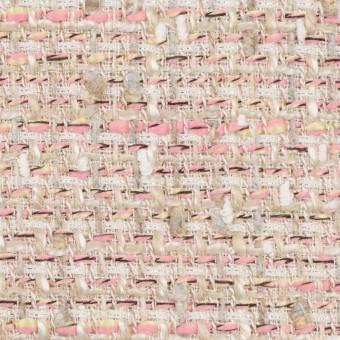 【150cmカット】アクリル&ポリエステル混×ミックス(ピンク)×ファンシーツイード_全2色