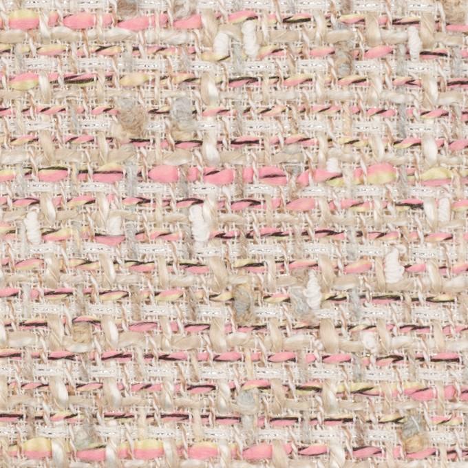 アクリル&ポリエステル混×ミックス(ピンク)×ファンシーツイード_全2色 イメージ1