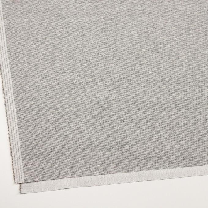 コットン&ポリウレタン×ミックス(グレー)×かわり織ストレッチ イメージ2
