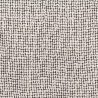 リネン&ナイロン×チェック(アイボリー&ブラック)×千鳥格子ワッシャー サムネイル1