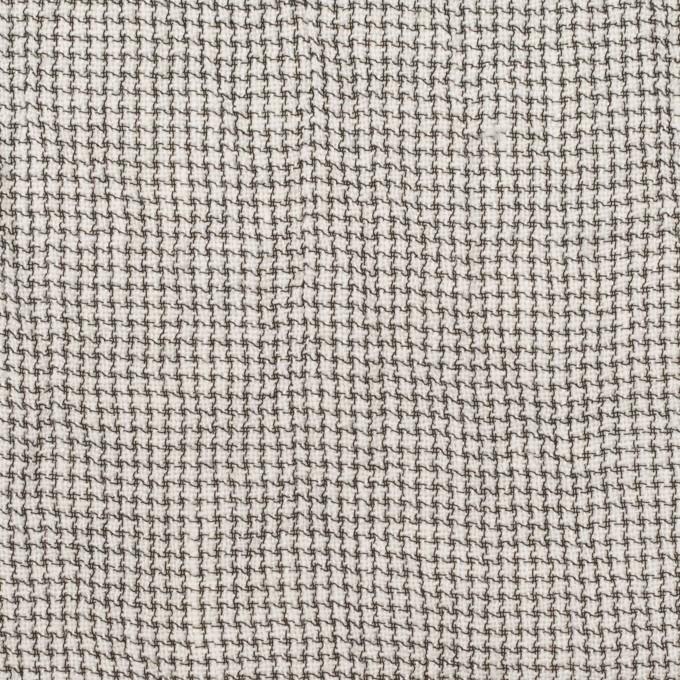 リネン&ナイロン×チェック(アイボリー&ブラック)×千鳥格子ワッシャー イメージ1