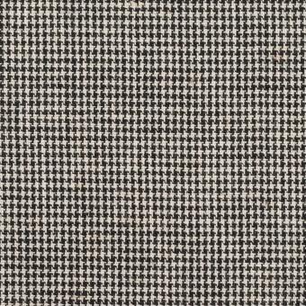 コットン×チェック(エクリュ&ブラック)×千鳥格子