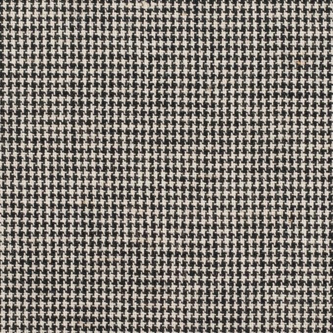 コットン×チェック(エクリュ&ブラック)×千鳥格子 イメージ1