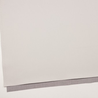 コットン&ポリエステル混×無地(アイボリー&グレー)×ギャバジン&ブロード(ボンディング)_全2色_イタリア製 サムネイル2