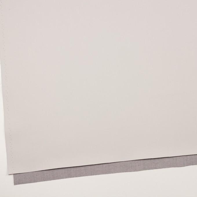 コットン&ポリエステル混×無地(アイボリー&グレー)×ギャバジン&ブロード(ボンディング)_全2色_イタリア製 イメージ2