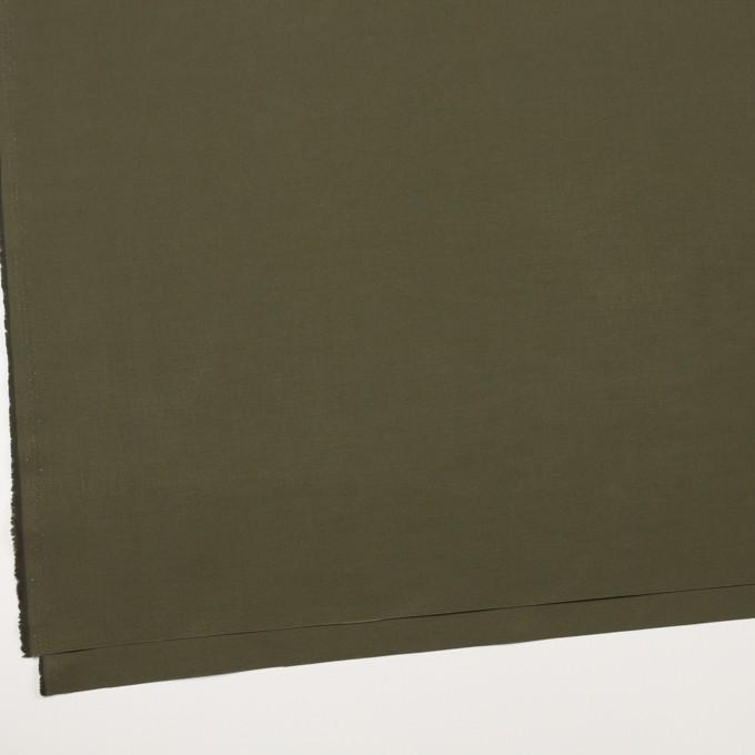 コットン&ポリエステル×無地(カーキグリーン)×形状記憶タッサーポプリン_全2色 イメージ2