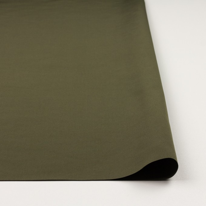 コットン&ポリエステル×無地(カーキグリーン)×形状記憶タッサーポプリン_全2色 イメージ3
